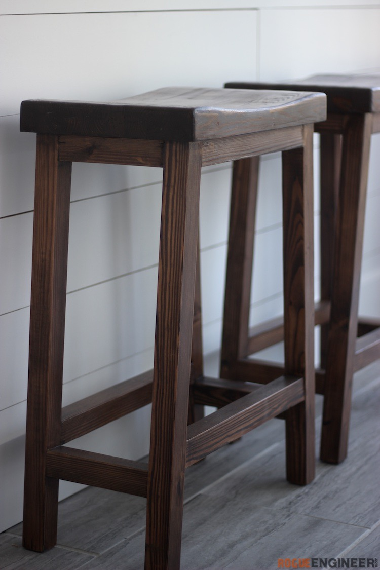 DIY Bar Stool Plans - Rogue Engineer 3