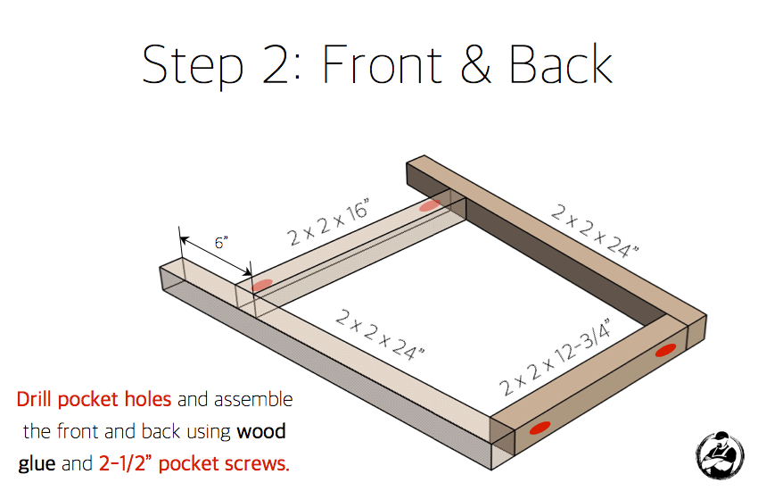 DIY Bar Stool Plans - Step 2
