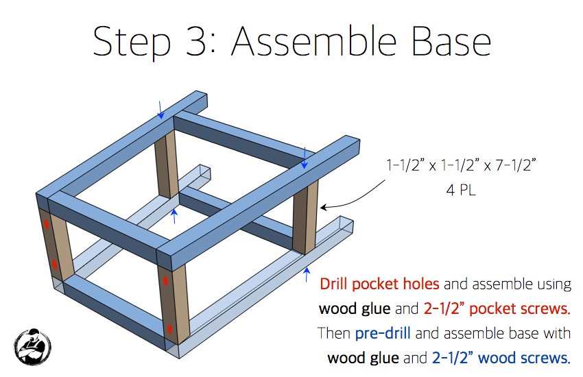 DIY Bar Stool Plans - Step 3