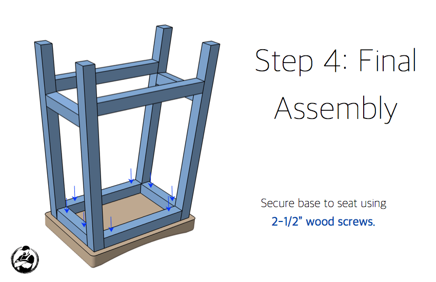DIY Bar Stool Plans - Step 4