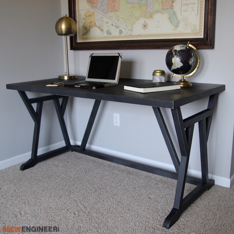 DIY Truss Desk Plans - Rogue Engineer 5