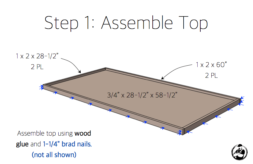 DIY Truss Desk Plans - Step 1