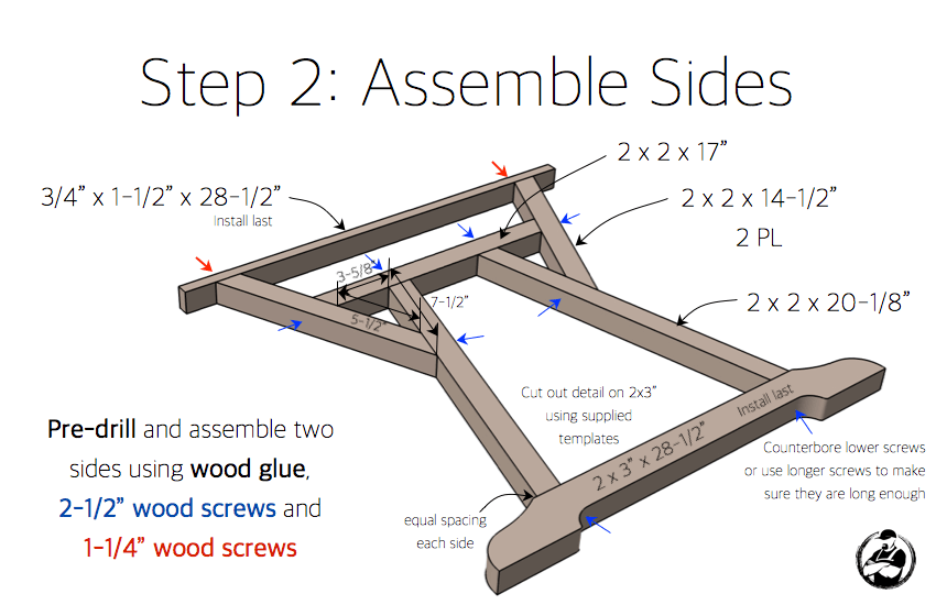 DIY Truss Desk Plans - Step 2