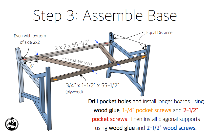 DIY Truss Desk Plans - Step 3
