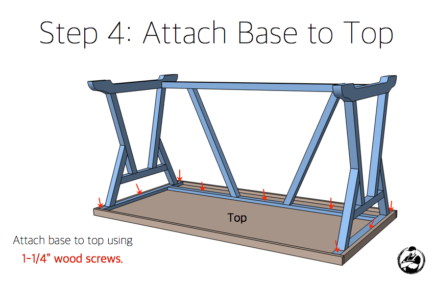 DIY Truss Desk Plans - Step 4