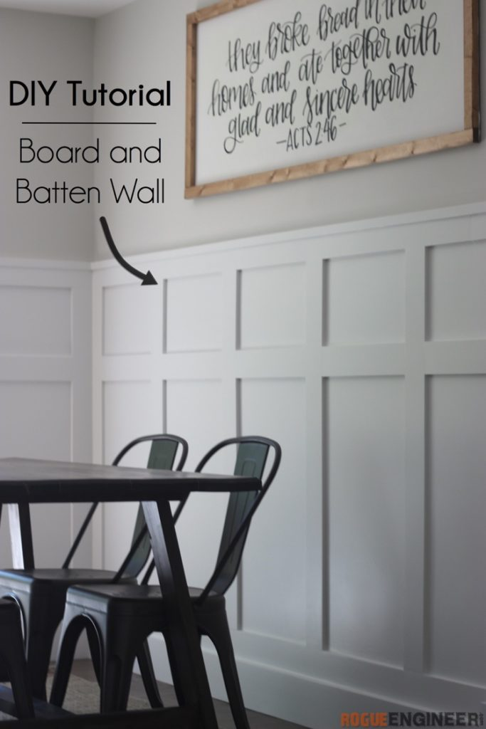 DIY Board and Batten Wall Tutorial