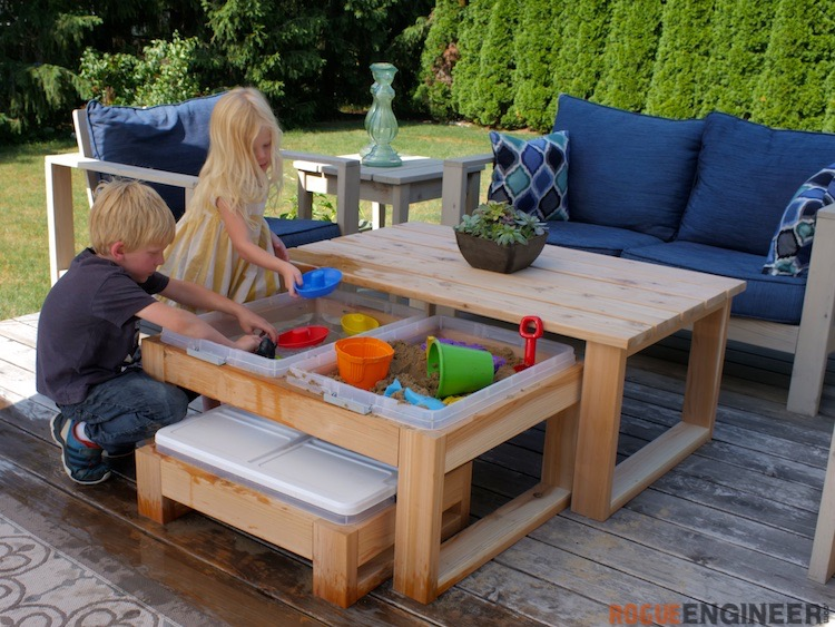Outdoor nesting activity table rogue engineer for Diy play table plans