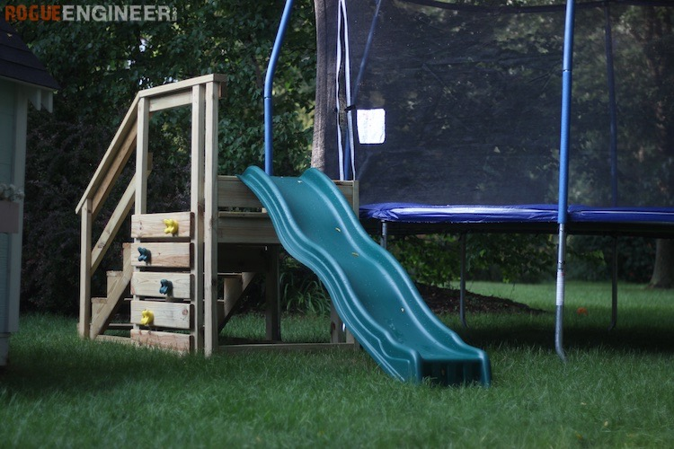 Trampoline Stairs With Slide 187 Rogue Engineer
