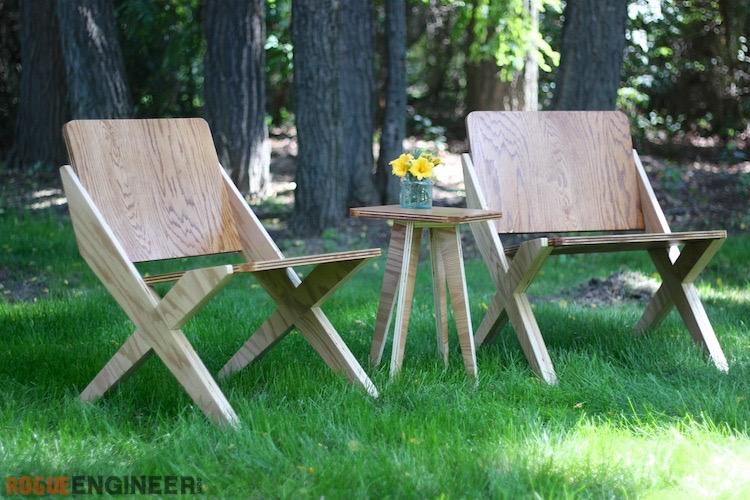 Sheet Plywood Chair Set Rogue Engineer