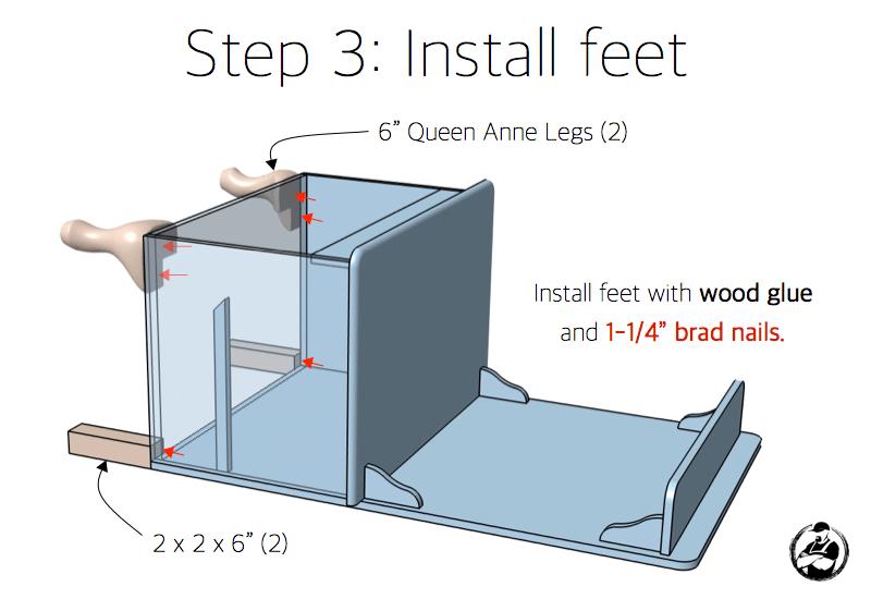 Step 3: Install Feet