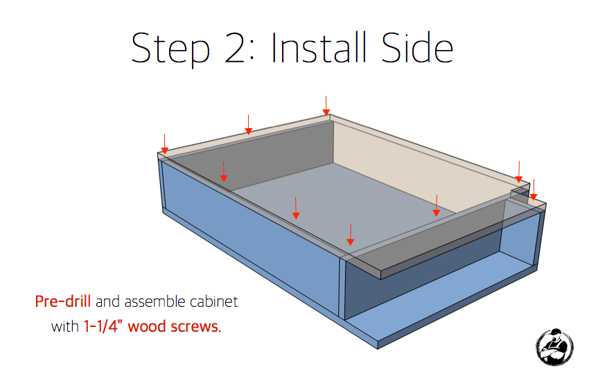 DIY 7in Slim Base Cabinet Plans Step 2