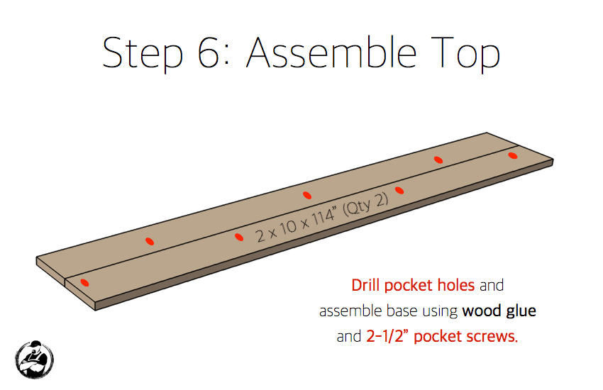 DIY Bar Top Console Table Plans Step 6
