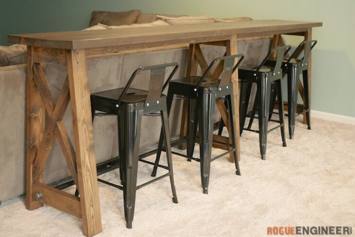 DIY Bar Top Console Table Rogue Engineer 1