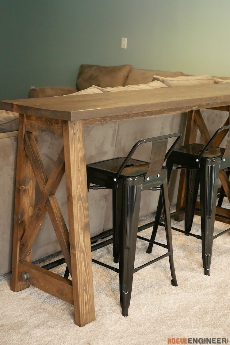 DIY Bar Top Console Table Rogue Engineer 2