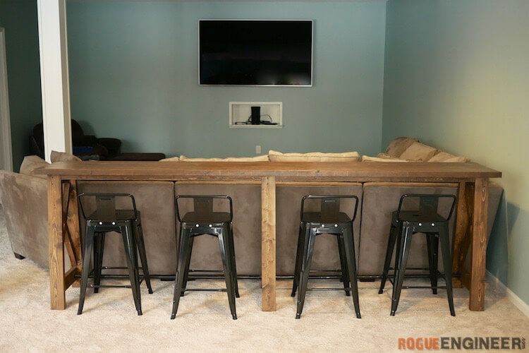 DIY Bar Top Console Table Rogue Engineer 3