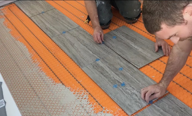 DIY Heated Tile Floor Tutorial 6