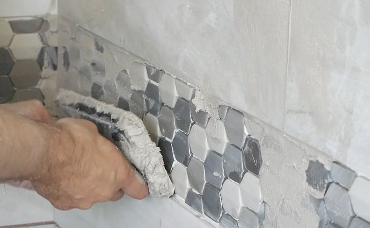 shower reno grout