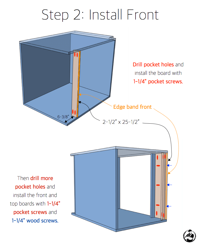 Free Base Cabinet Plans: 27in Sink Base Cabinet Carcass (Frameless) » Rogue Engineer