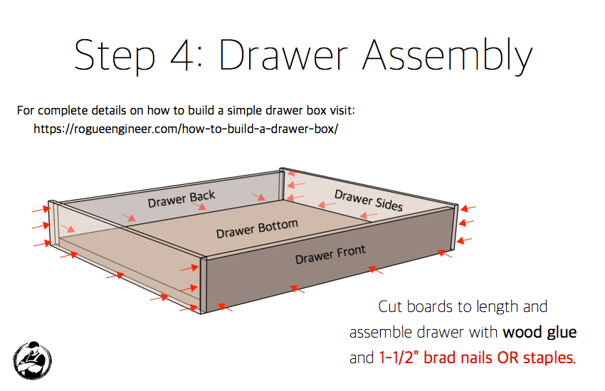 DIY 30in 1 Drawer 2 Door Base Cabinet Carcass Plans Step 4