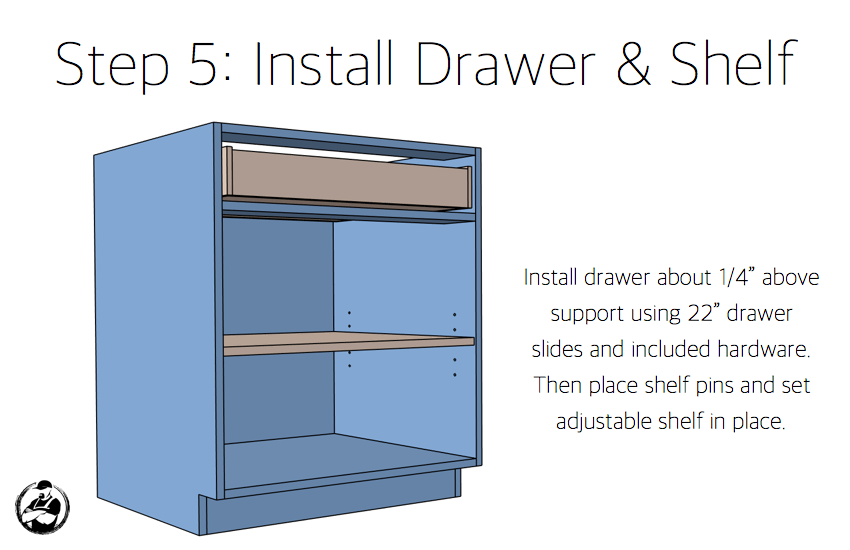 DIY 30in 1 Drawer 2 Door Base Cabinet Carcass Plans Step 5