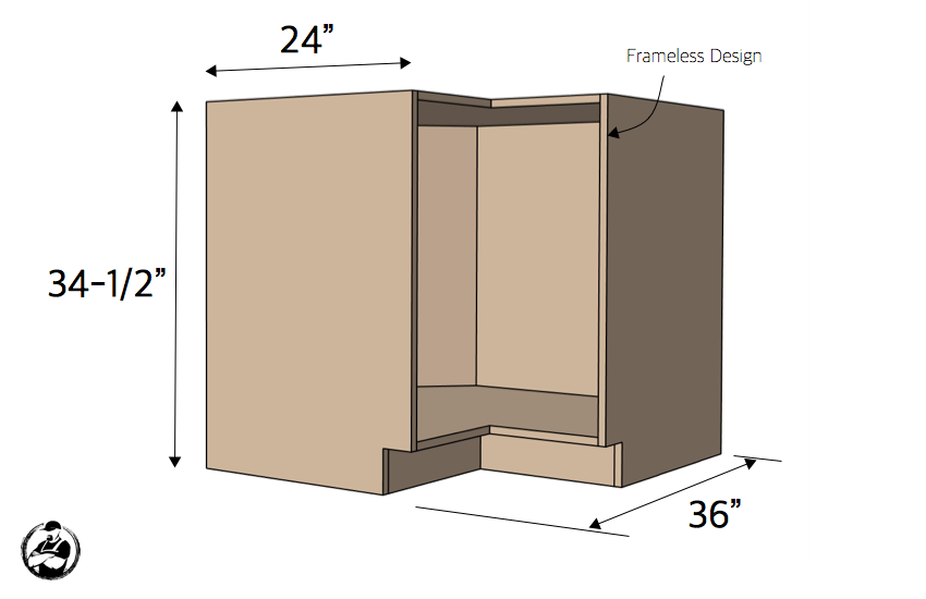 DIY 36in Lazy Susan Plans Dimensions