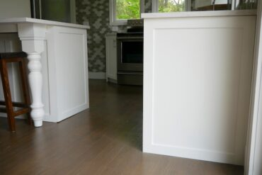 DIY Kitchen Cabinet End Panels 1