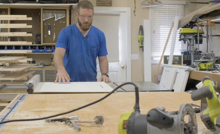 How to make cabinet end panels step 3