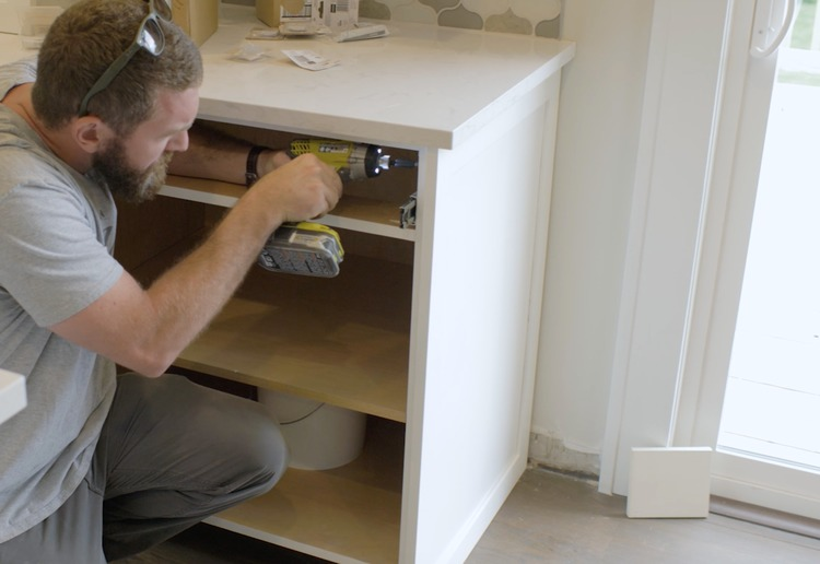 How to make cabinet end panels step 6