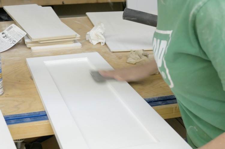 DIY Cabinet Door Painting and Installation Step 16