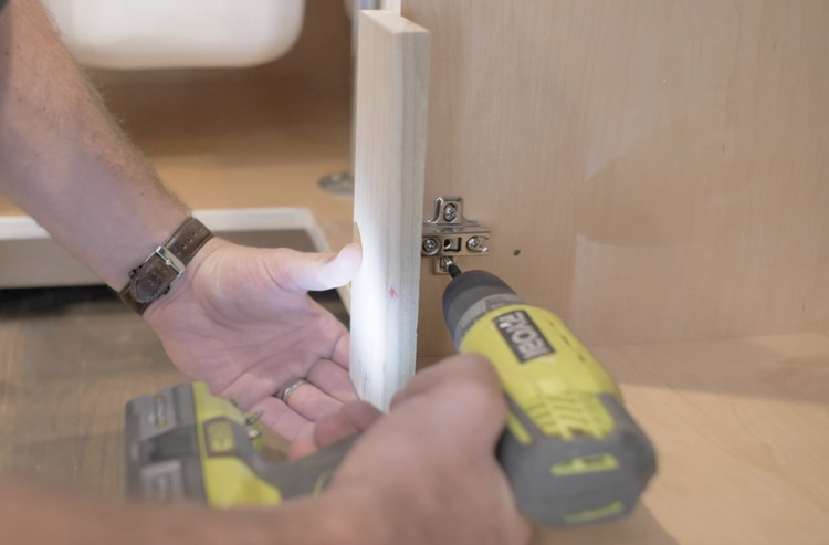 DIY Cabinet Door Painting and Installation Step 20