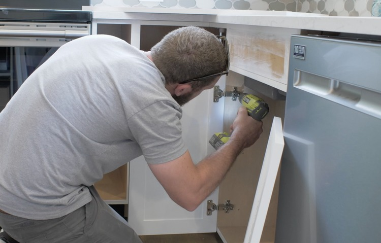 DIY Cabinet Door Painting and Installation Step 23