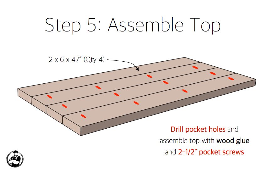 DIY X Leg Coffee Table with Shelf Plans Step 5 1