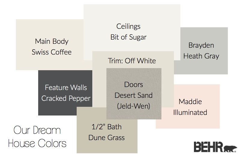 Behr Dream House Colors 1
