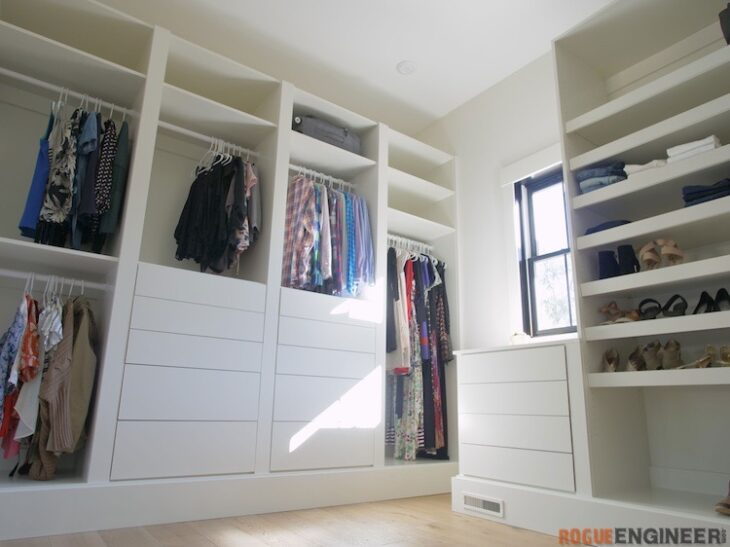DIY Master Closet Plans Rogue Engineer