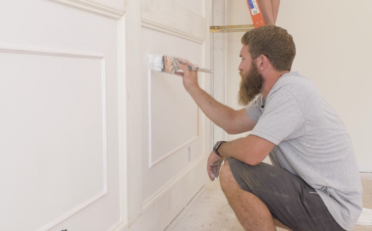 DIY Double Raised Panel Feature Wall Rogue Engineer10