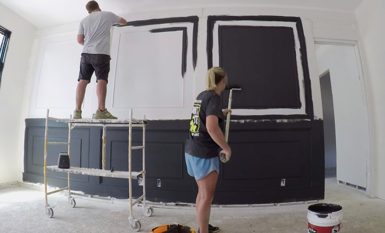 DIY Double Raised Panel Feature Wall Rogue Engineer11