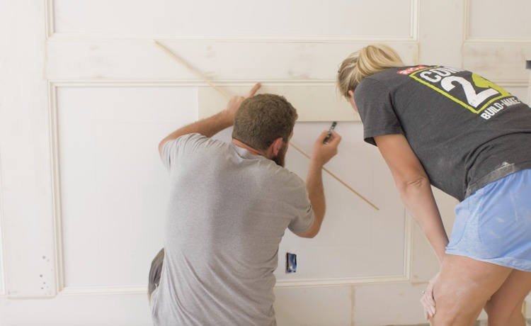 DIY Double Raised Panel Feature Wall Rogue Engineer7