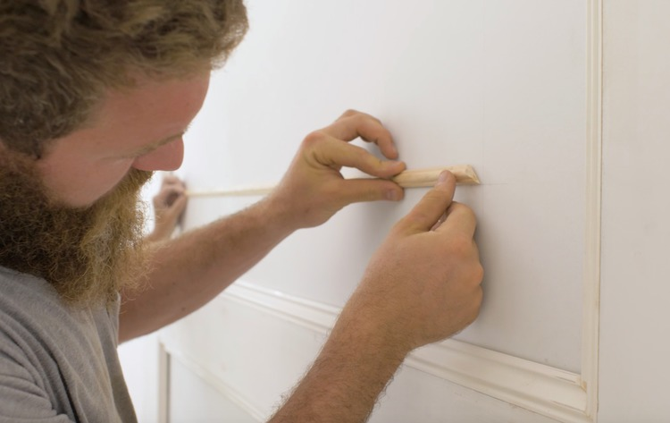 DIY Double Raised Panel Feature Wall Rogue Engineer9