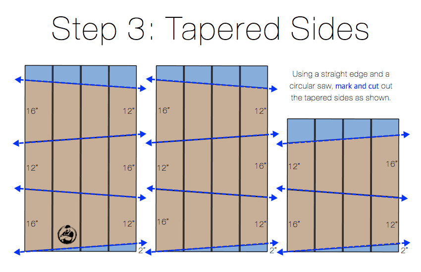DIY Modern Tall Tapered Planter Plans Step 3