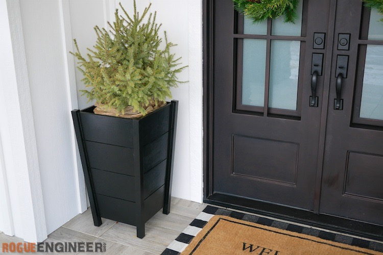 DIY Modern Tapered Planter Plans Rogue Engineer 1