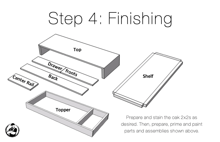 DIY Modern Changing Table Plans Step 4