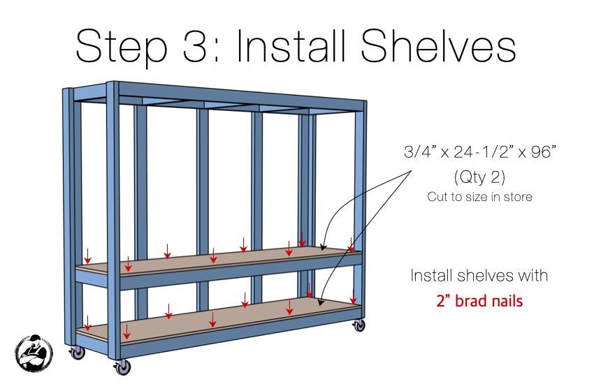 DIY Mobile Utility Station Plans Step 3