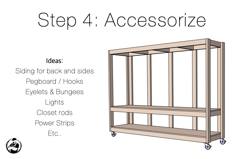 DIY Mobile Utility Station Plans Step 4