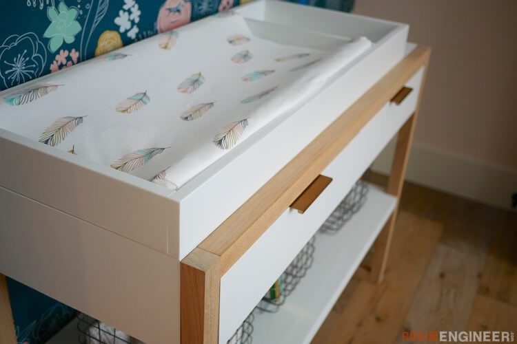DIY Modern Changing Table Plans Rogue Engineer 1
