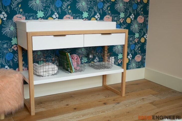 DIY Modern Changing Table Plans Rogue Engineer 3
