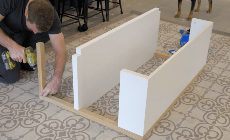 DIY Modern Changing Table Plans Step 7