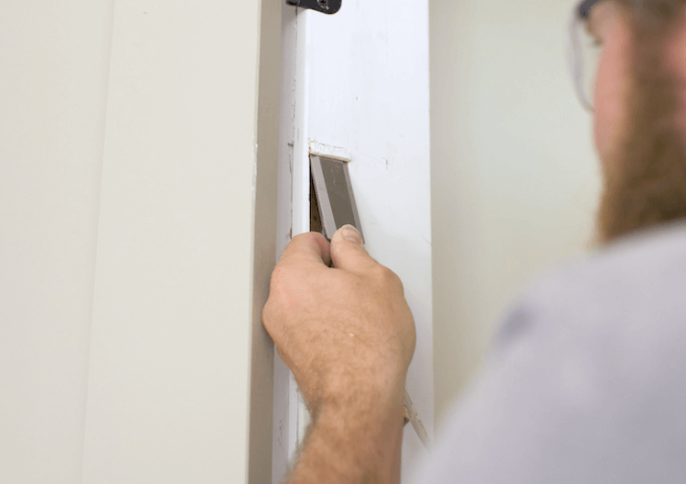 How to Install Prehung Interior Door with Jamb Switch10