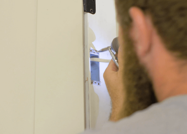 How to Install Prehung Interior Door with Jamb Switch11