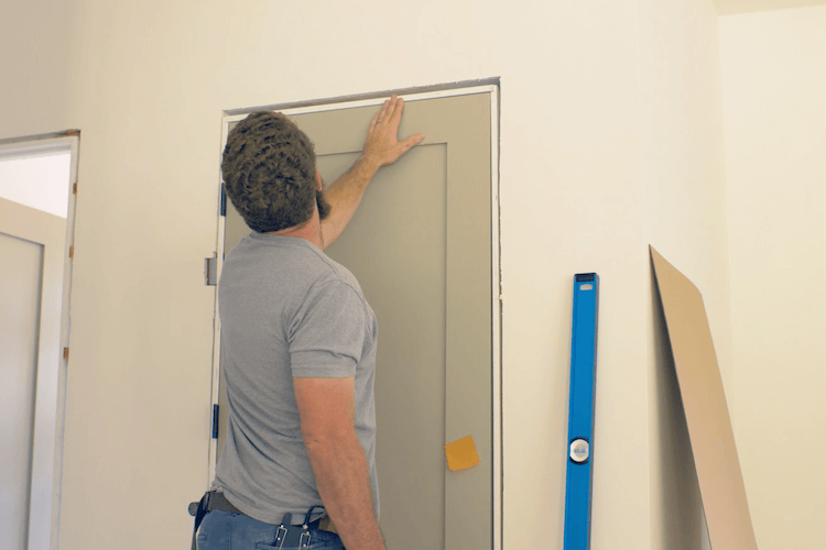 How to Install Prehung Interior Door with Jamb Switch12