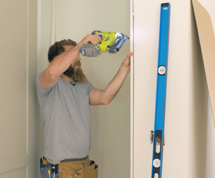 How to Install Prehung Interior Door with Jamb Switch13